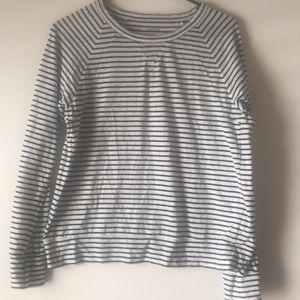 Aerie lightweight striped sweatshirt